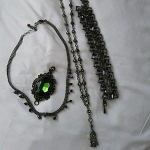 Jewelry - Gothic style jewelry bundle